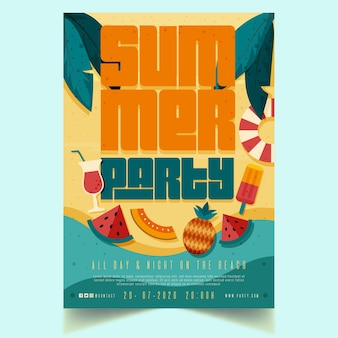 Conception d'affiche de fête d'été