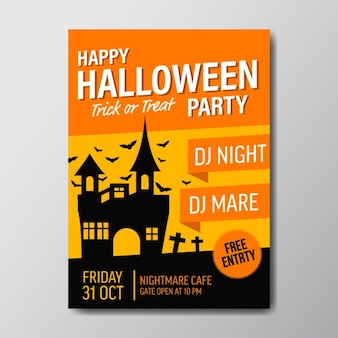 Conception de l'affiche de la fête d'halloween