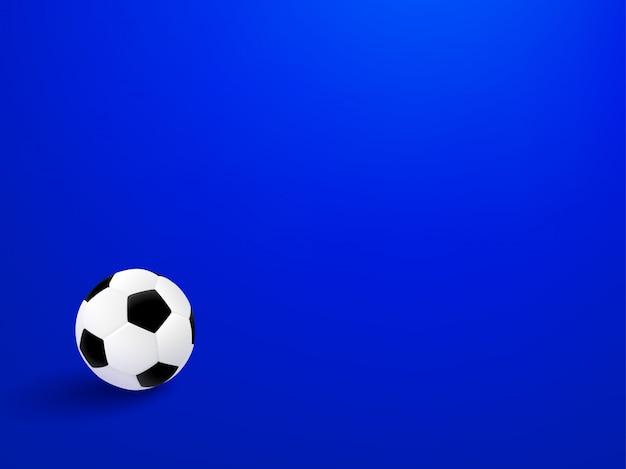 Conception d'affiche football 2018 avec ballon de foot