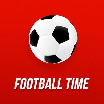 Conception de l'affiche de football 2018 avec ballon de foot
