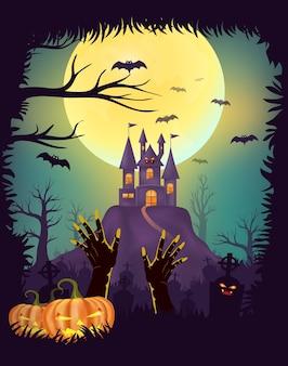 Conception d'affiche happy halloween