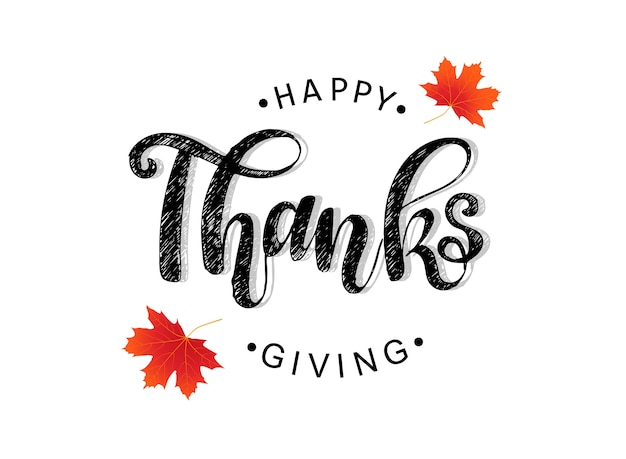 Conception d'affiche happy thanksgiving