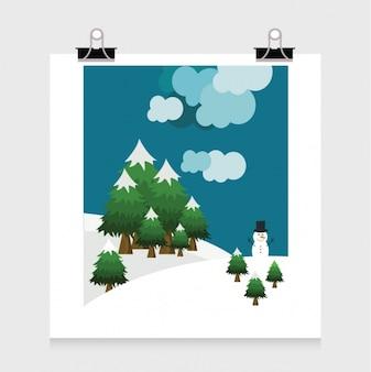 Conception de l'affiche d'hiver