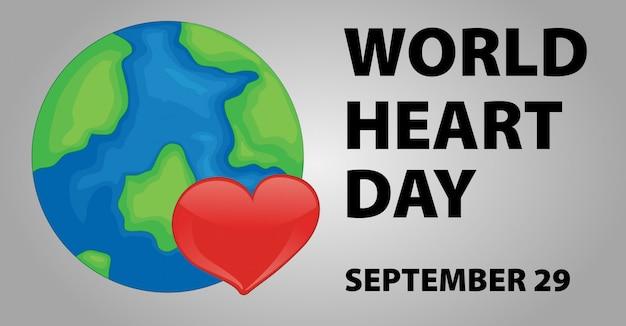 Conception d'affiche de la journée mondiale du coeur