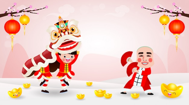 Conception d'affiche joyeux nouvel an chinois 2021