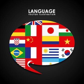 Conception d'affiche de langue
