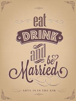 Conception de l'affiche de mariage