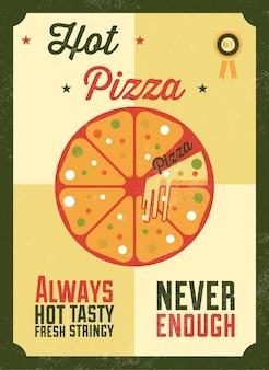 Conception de l'affiche de pizza