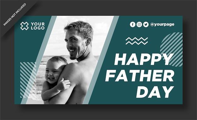 Conception d'affiche pour la fête des pères heureux