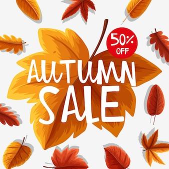 Conception d'affiche pour la vente d'automne
