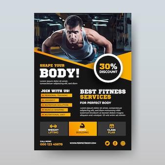 Conception d'affiche de sport musculation