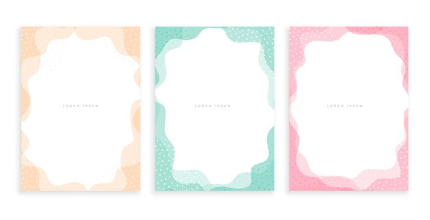 Conception d'affiche de style memphis minimal de couleur pastel