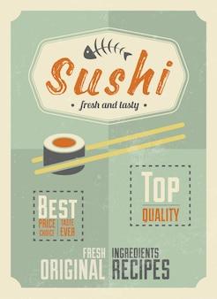 Conception de l'affiche de sushi