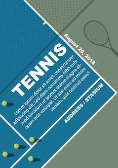 Conception d'affiche de tournoi de tennis. modèle de vecteur.