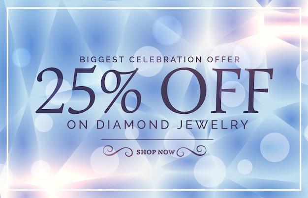 Conception d'affiche de vente de style de luxe pour la marque de bijoux