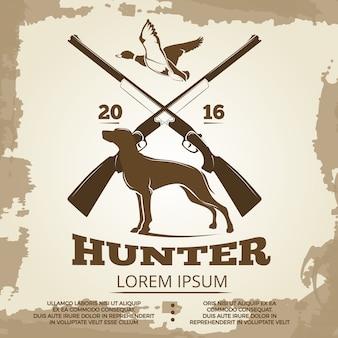 Conception d'affiche vintage de chasse