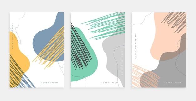 Conception d'affiches dessinées à la main dans un style contemporain