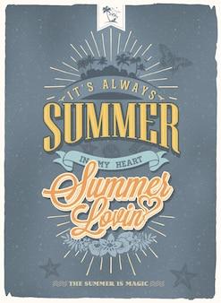 Conception d'affiches d'été