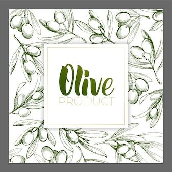 Conception d'affiches publicitaires, cartes postales, étiquettes pour produits à base d'olives. lettrage à l'huile d'olive au pinceau.