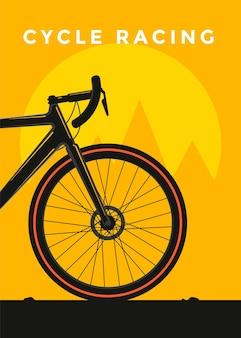 Conception d'affiches de sport de course cycliste. illustration plate