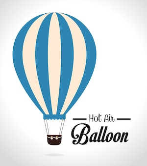 Conception airballoon sur illustration backgroundvector blanc