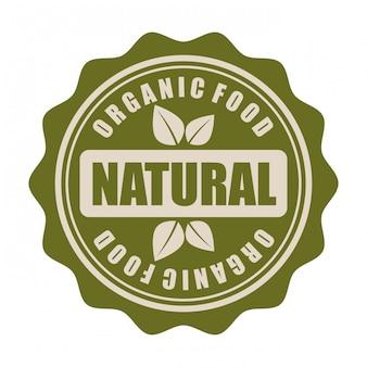 Conception d'aliments biologiques sur fond blanc