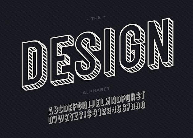 Conception de l'alphabet 3d moderne pour la décoration