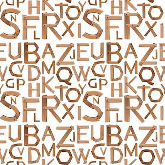 Conception de l'alphabet anglais sans soudure