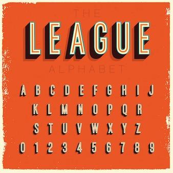 Conception de l'alphabet condensé vintage