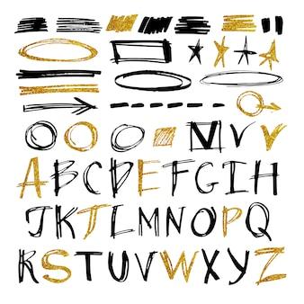 La conception de l'alphabet dessiné à la main