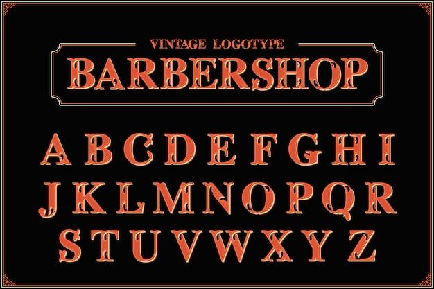 Conception d'alphabet de salon de coiffure