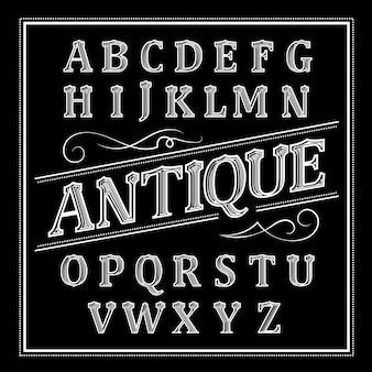 Conception d'alphabet sur le thème antique
