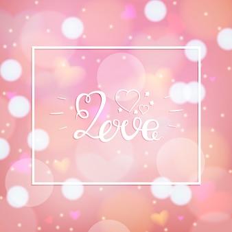 Conception de l'amour au cours de l'illustration vectorielle fond rose