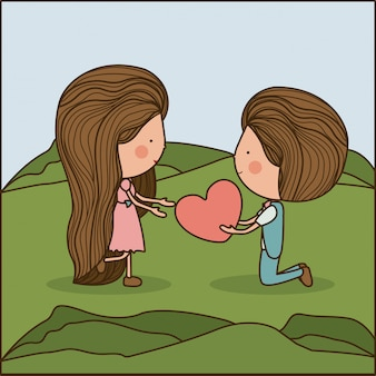 Conception de l'amour, illustration vectorielle.