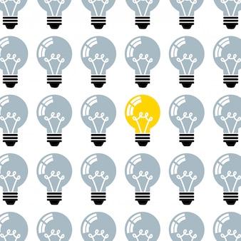Conception d'ampoules sur fond blanc
