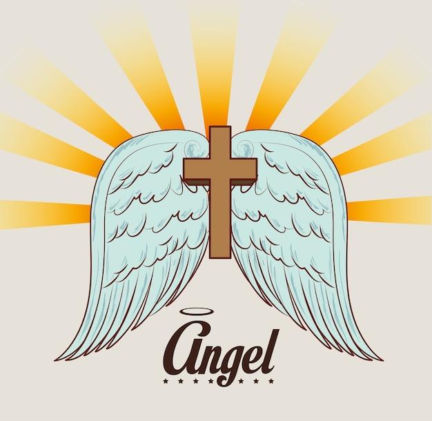 Conception de l'ange, illustration vectorielle.