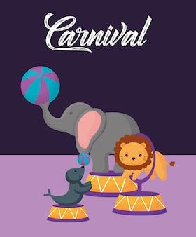 Conception d'animaux de cirque