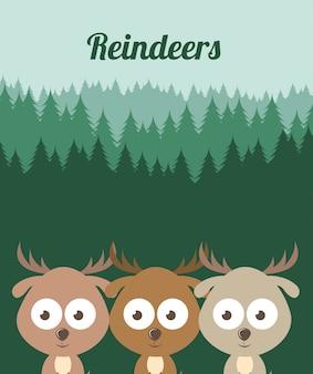 Conception d'animaux de compagnie au cours de l'illustration vectorielle fond forêt