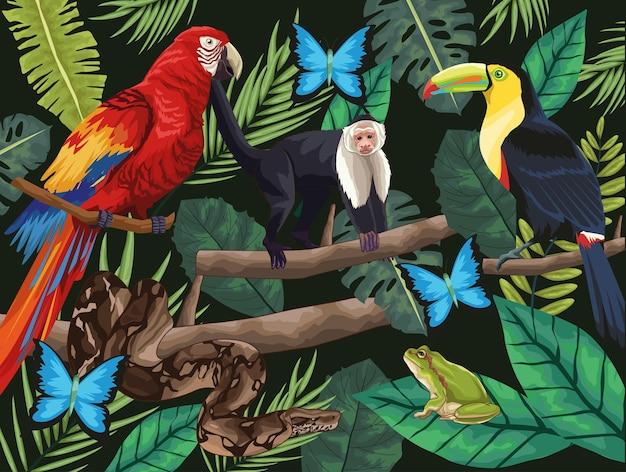 Conception d'animaux de la jungle