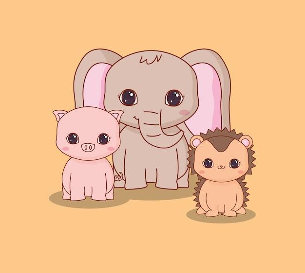Conception d'animaux kawaii