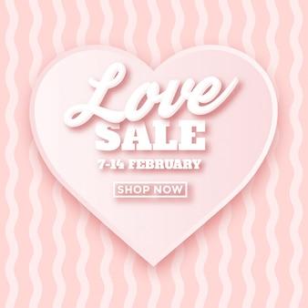 Conception d'annonce vente saint valentin avec typographie 3d