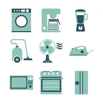 Conception d'appareils au cours de l'illustration vectorielle fond blanc