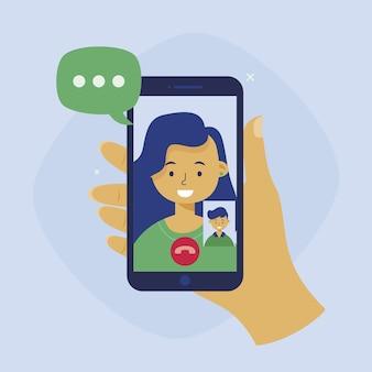 Conception d'appels vidéo d'amis