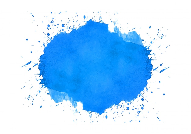 Conception aquarelle abstraite splash bleu