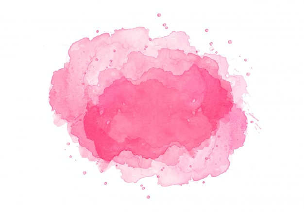 Conception aquarelle abstraite splash rose
