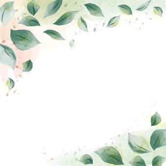 Conception aquarelle avec feuilles nature