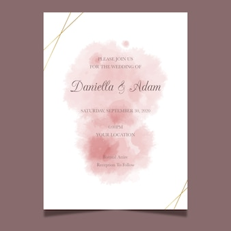 Conception d'aquarelle d'invitation de mariage