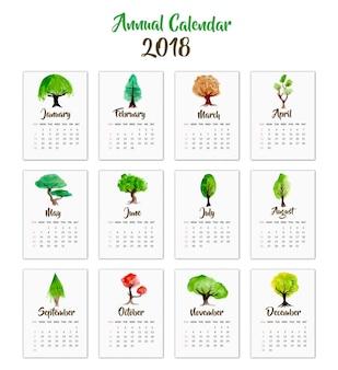 Conception d'arbre de calendrier 2018
