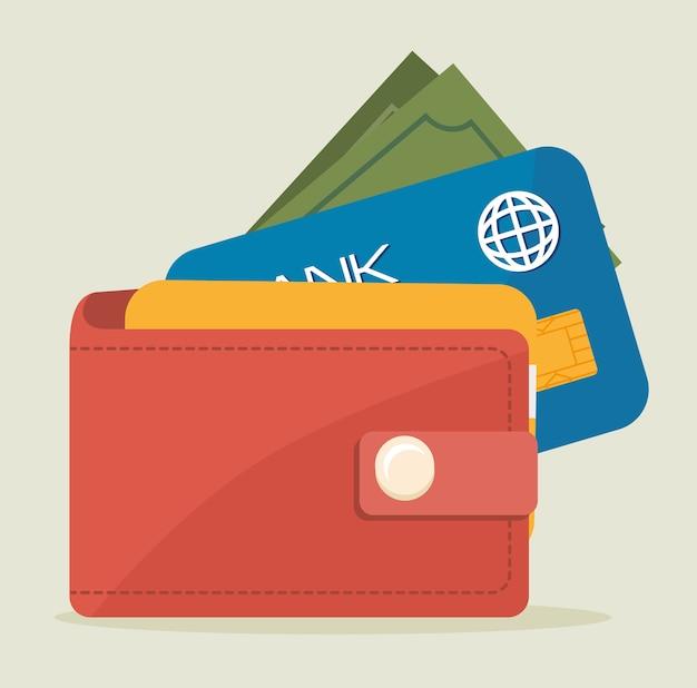 Conception de l'argent, illustration vectorielle.