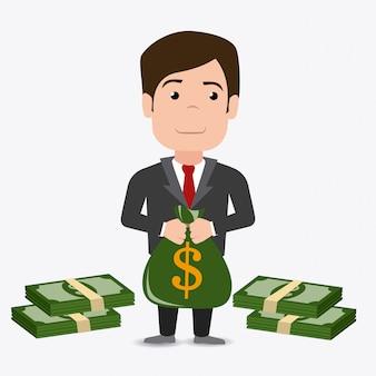 Conception de l'argent.